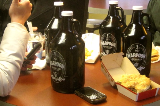 Mc Jugs of alcohol