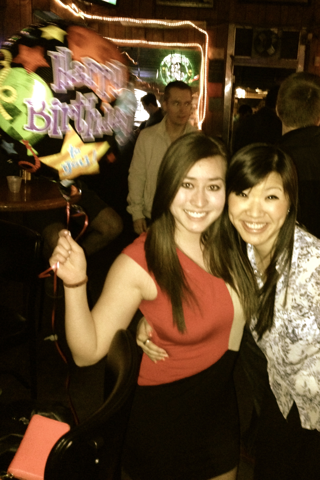 Hey thanks for the balloon! Also. Check out that caveman/bear hybrid in the corner of the bar.