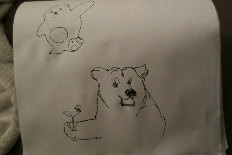 A bear with a martini? Or...a martini with a bear?