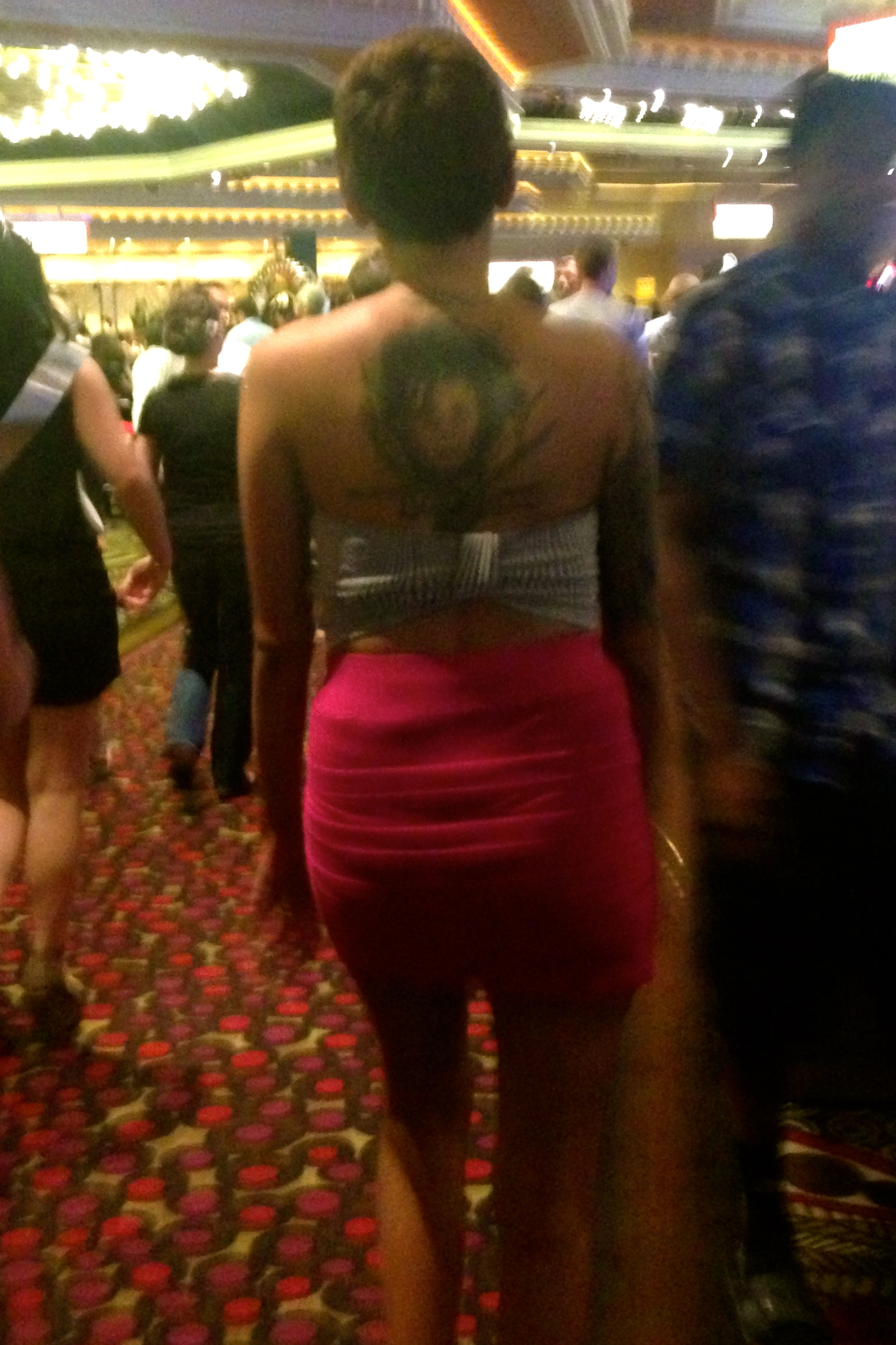 "If you're asking if this is a women with an ""Edward Scissor Hands"" Tattoo. The answer is yes...yes it is."