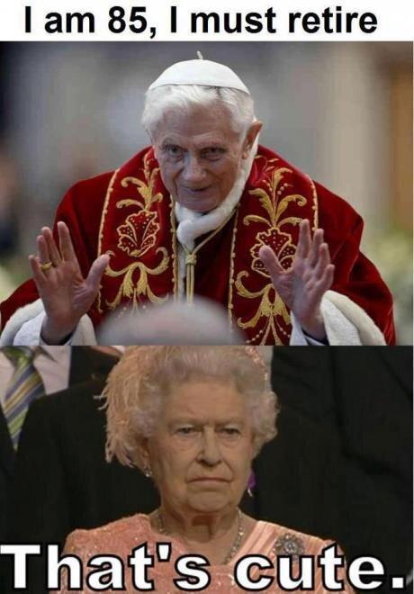 Pope-Retires-Queen-Elizabeth